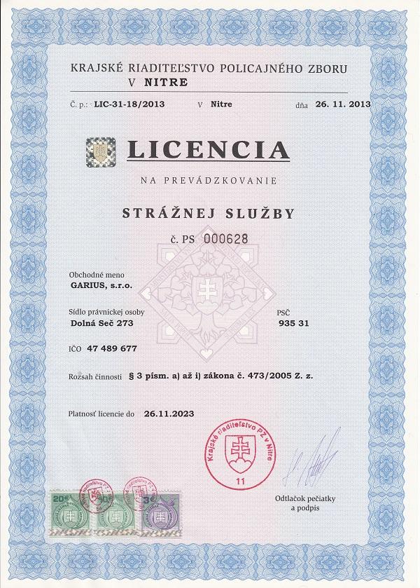 Licencia Garius